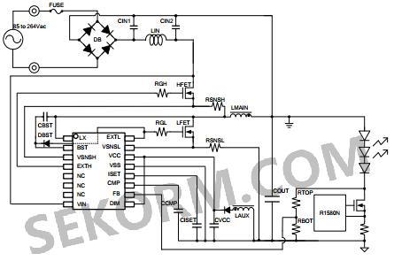 零电压开关(zvs)结构的pfc/led驱动控制器