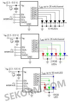 它的典型应用电路如图2所示,主要应用于键盘和显示背光,手机,数码相机