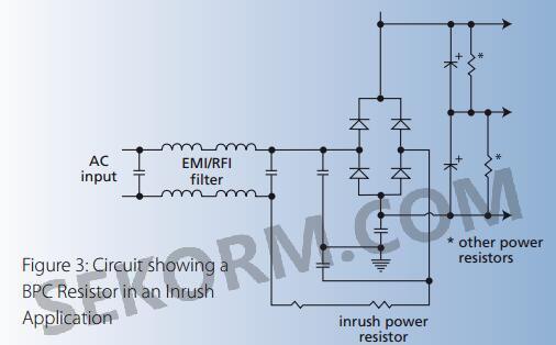 在浪涌电路中的bpc电阻电路