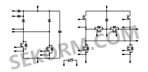 这种功率模块的集电极发射极电压高达650v,重复峰值正向电流为50a(10