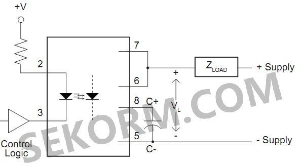 【产品】高速单极常开光耦合固态继电器,具有集成限流