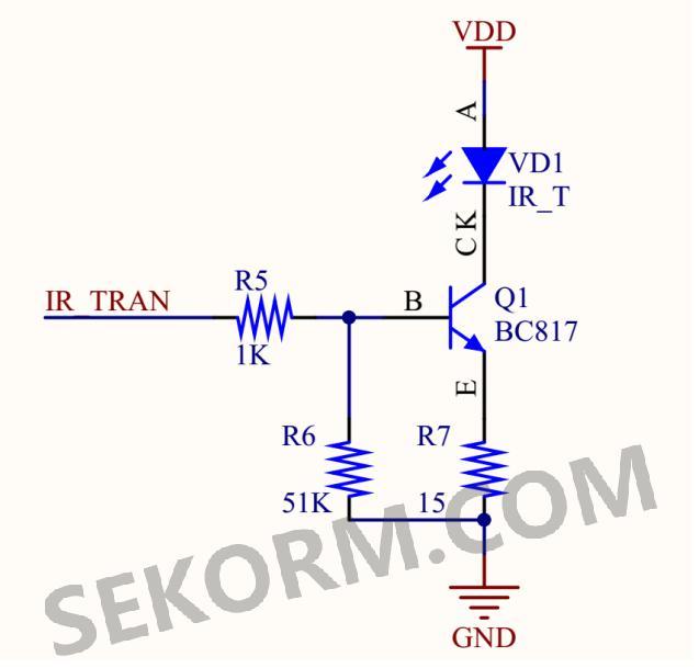 opa0和mcu opa3是mcu内置的运算放大器,它们将红外接收器接收到的信号