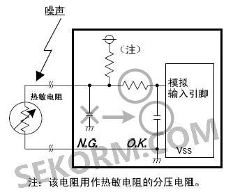 模拟信号线,电阻及电容