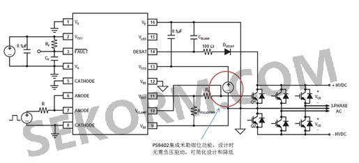 renesas ps9402隔离驱动光耦典型应用电路