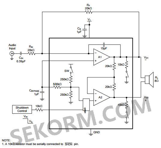 sgm4890典型应用电路