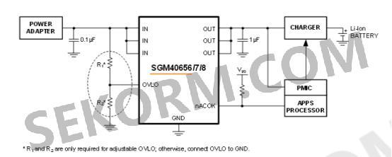 图二 sgm40656/7/8典型应用电路