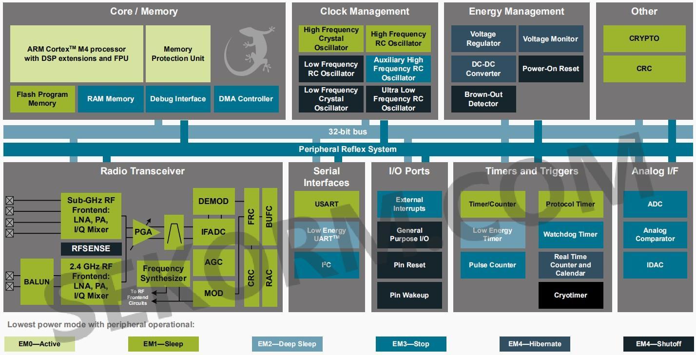 efm32内核结构框图