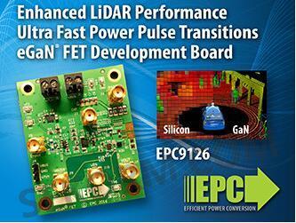 【产品】epc氮化镓场效应晶体管,助力自动驾驶汽车激光雷达系统超快速