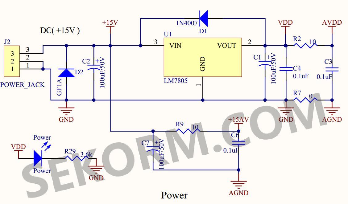 电源电路 电机电流采样及电机强制截止电路 放大电路对电机电流采样