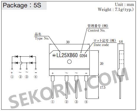 【产品】一款sip封装的600v工业级桥式整流二极管