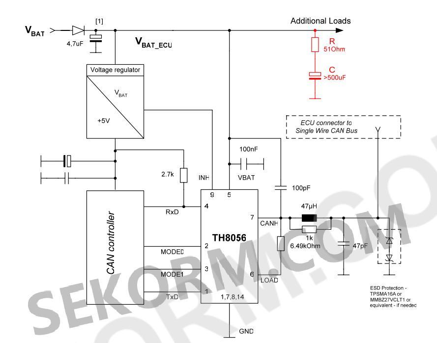 向储存电容器及串联电阻并联一个二极管