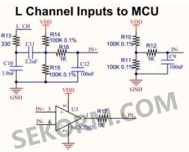 可以通过硬件电路实现模拟的音频信号和r7f0c807 的数字信号相适应.