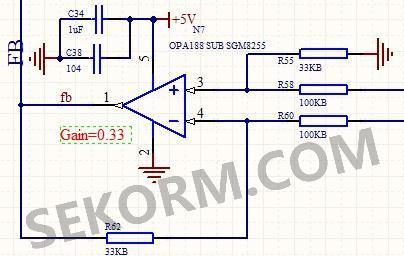 图1为笔者基于opa188设计的12v程控数字电源中信号采集电路原理图.