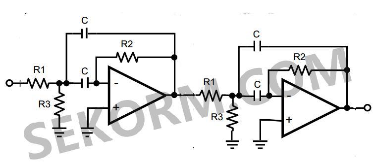 电路图如图1所示: 因为中心频率要求为总频率的10%,因此两个sgm8295-2