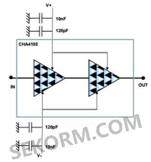 电路原理图如下:          cha4105-99f 系列单片式两级驱动放大器