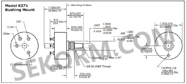 【产品】多种安装方式,高精度军品级导电塑料单圈精密电位器