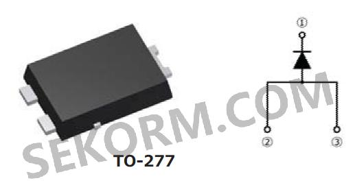 【产品】to-277封装工业级肖特基二极管,反向漏电流为