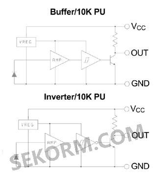 线性放大器,电压调节器,施密特触发器组成的单硅片集成电路.