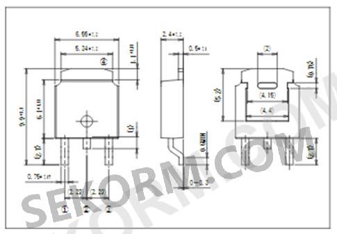 ecf06f60-f系列快恢复二极管(多芯片)外形,等效电路及机械尺寸