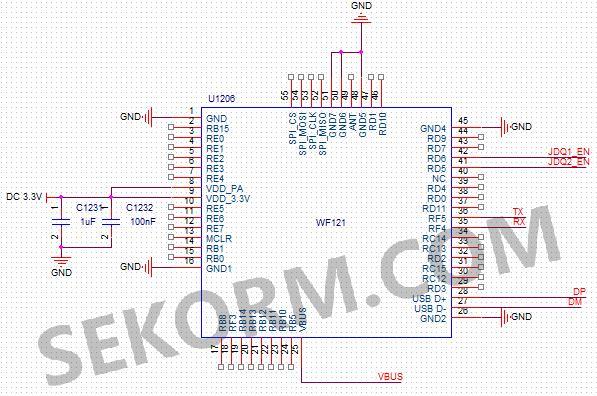 引脚jdq1_en和jdq2_en是控制外设继电器的开启和关断的,外设连接图见