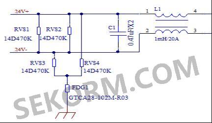 图1防雷电路工作原理图