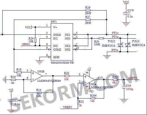【经验】使用模拟开关sgm3005消除三线制pt100温度采集电路线阻压降的