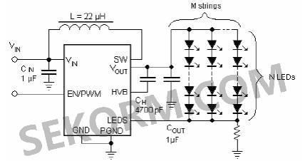 【产品】集成升压转换器的wled驱动器,最高可驱动49个