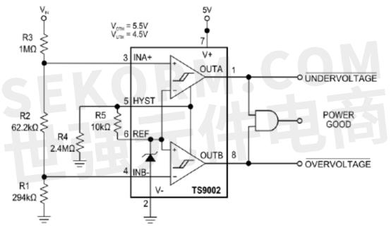 【产品】低功耗单/双电源双通道比较器,330mw功耗,4μ