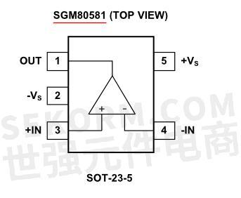 sgm80581轨到轨coms运算放大器引脚图