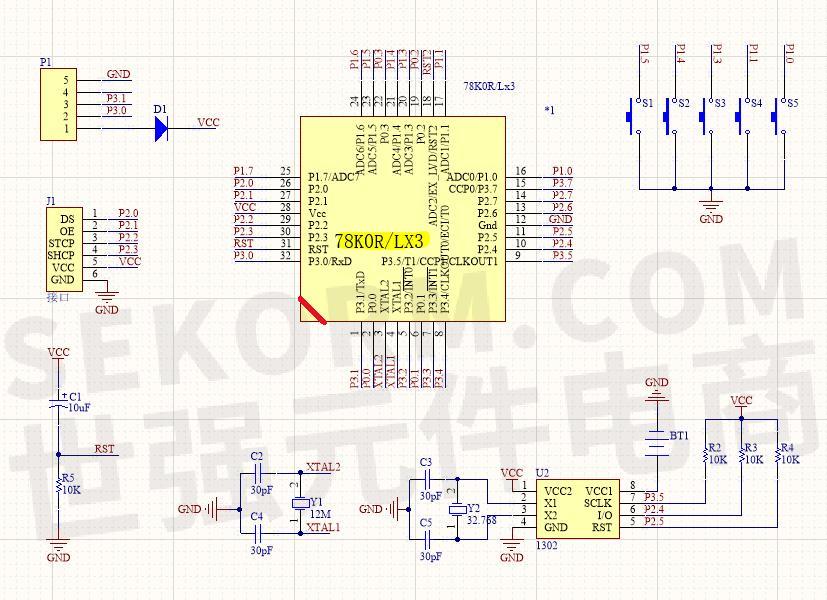 78k0r/lx3电路设计图