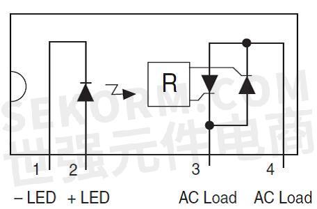 继电器引脚电路图