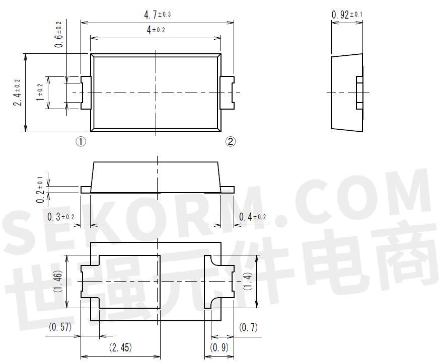 【产品】京瓷3a整流电流的肖特基二极管,反向漏电流低