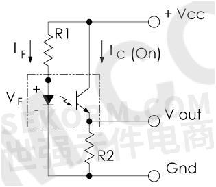 共集电极电路导通/断开=输出高电平