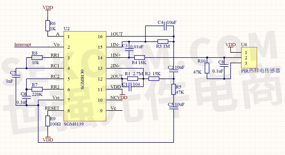 【成功案例】sgm8139 热释电传感器在智能风扇控制系统中的应用