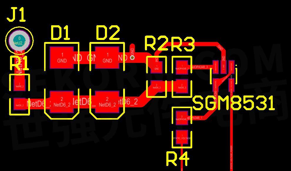 基于微功耗运算放大器sgm8531的静电压检测系统设计