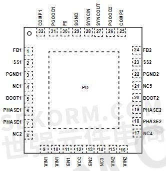 【产品】双通道3a输出电流的双通道降压稳压器,宽电压
