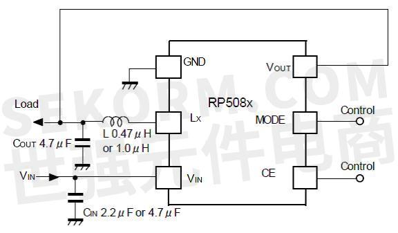 降压型dc/dc转换器rp508k典型应用电路