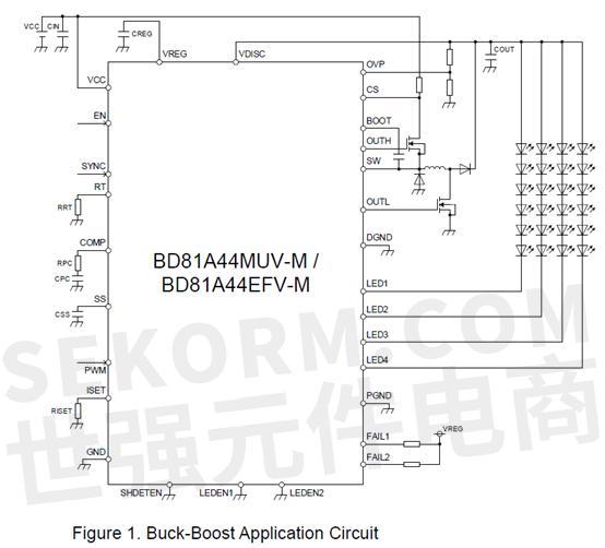 【产品】四通道且内置buck-boost稳压电路的bd81a44efv-m,bd81a44muv