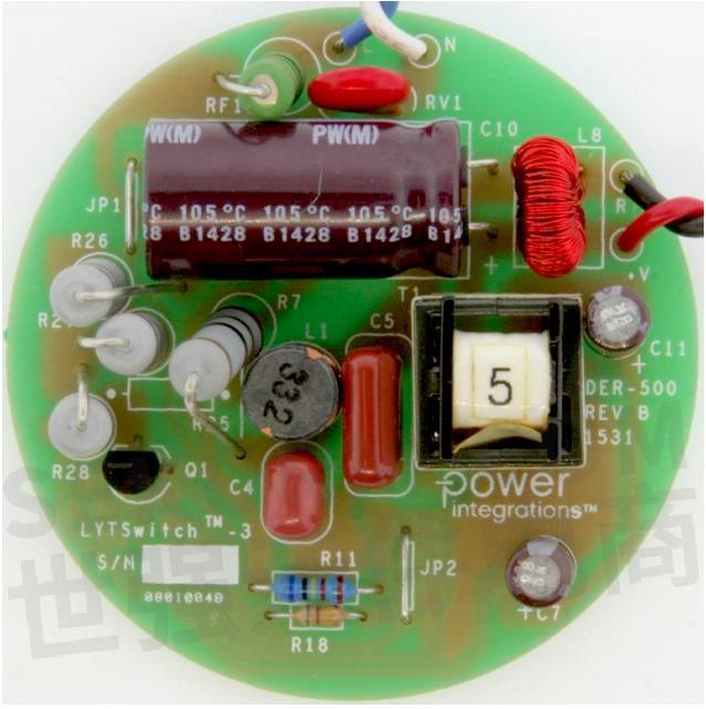 lytswitch-3电路图的10 w triac可调光高效pfc降压   升压型led驱动器
