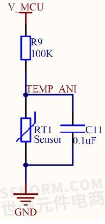 温度检测电路原理图