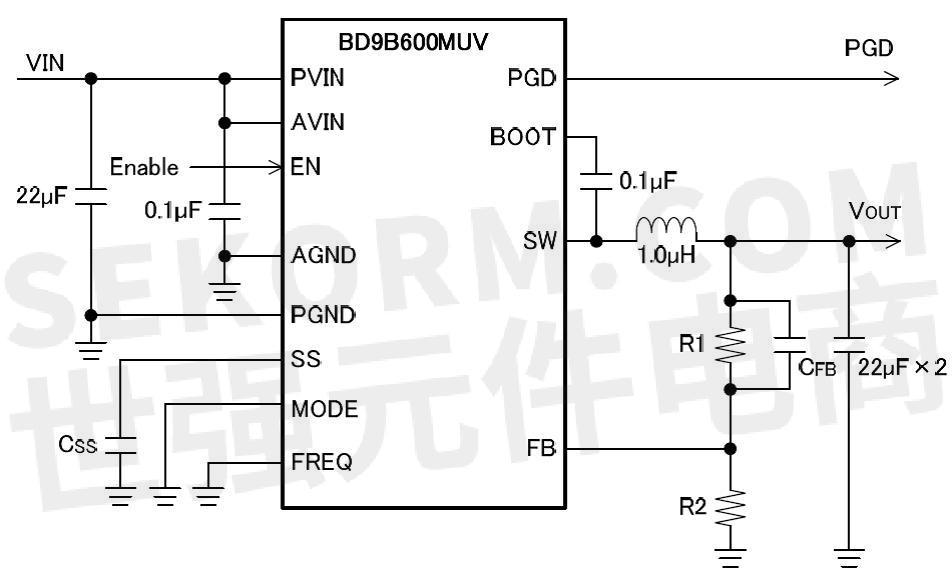 单通道同步降压型开关稳压器产品特性: ·输入电压范围:2.7v至5.