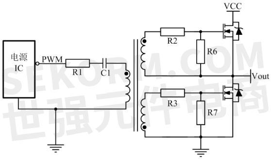 在图3的电路中,通过使用mosfet,当栅源极间电容短接时,可在最短时间