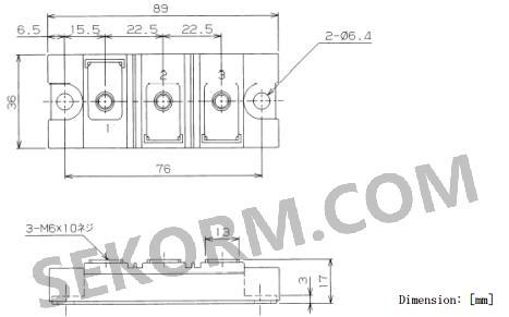 pd200kn8型二极管模块可以工作在反向重复峰值为800v电压,平均整流