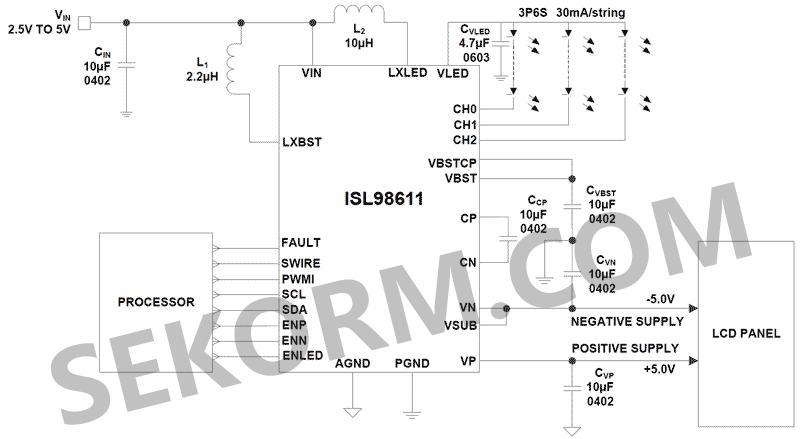 5v至5v,可编程正负输出电压调整范围为±4.5v到±6v.