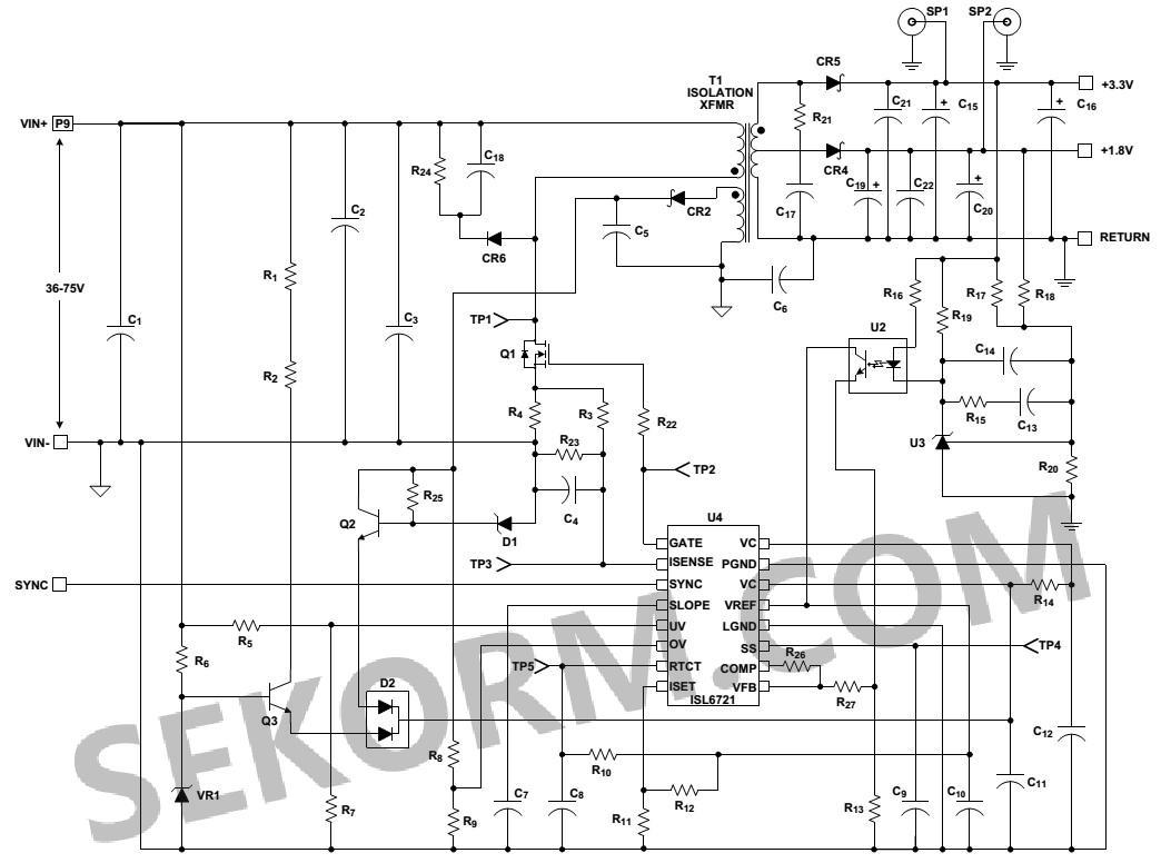 无线基站电源,文件服务器电源,工业动力系统,隔离式降压和反激式稳压