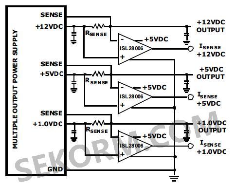 【应用】带电压输出的微功率单向电流检测放大器,可检测低或高压侧