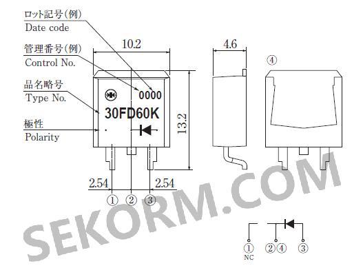 【产品】最大整流电流30a,反向工作电压600v,一款反向