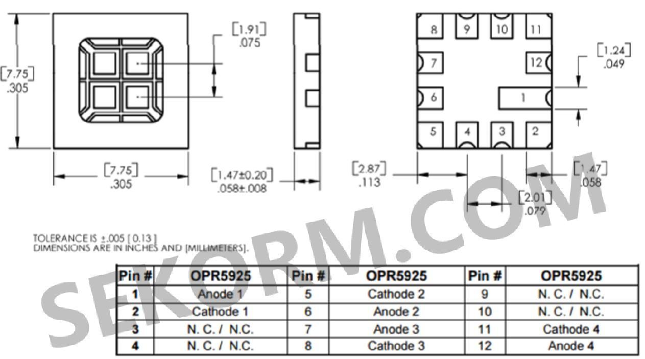 【产品】四元件的光电二极管阵列,满足编码器和控制应用的需求