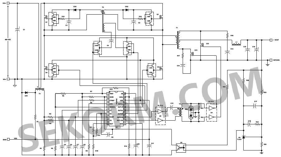 【产品】具有可调同步整流控制的零电压开关(zvs)全桥式pwm控制器