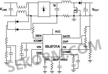 isl6731a/isl6731b的典型应用电路